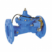 Flanged pressure reducing valve PR500 with pilot